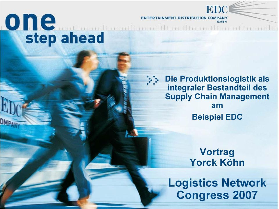 Chain Management am Beispiel EDC