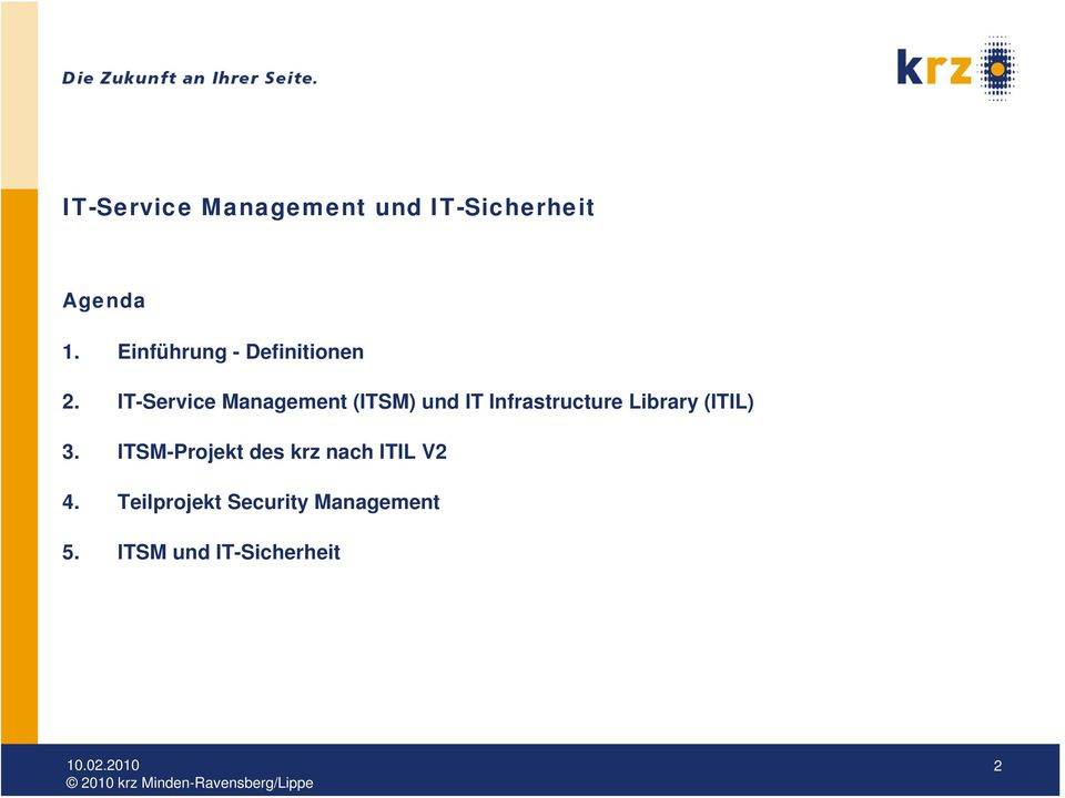 IT- Management (ITSM) und IT Infrastructure Library