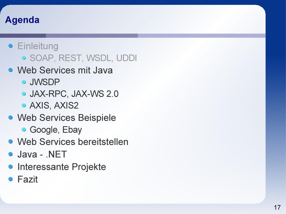0 AXIS, AXIS2 Web Services Beispiele Google, Ebay