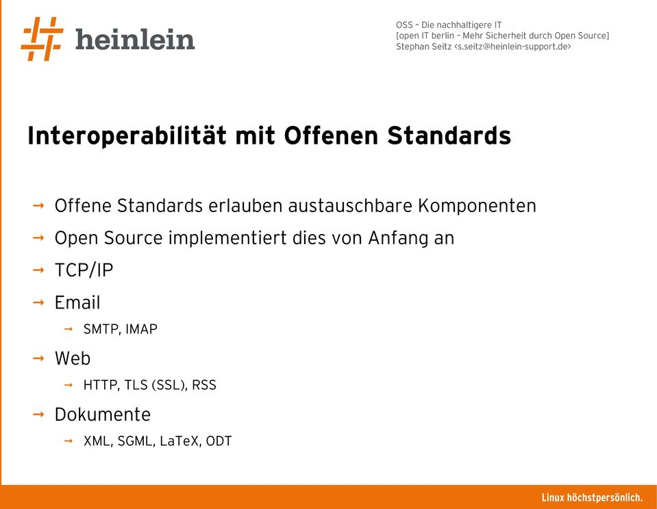 Source implementiert dies von Anfang an TCP/IP Email