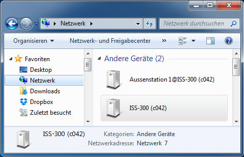 A3. Sprechanlagen-Server aufrufen und anmelden Access and log into the intercom server / Ouverture et connexion au serveur interphone Anmelden Login Connexion UPnP-Geräte werden unter Windows im