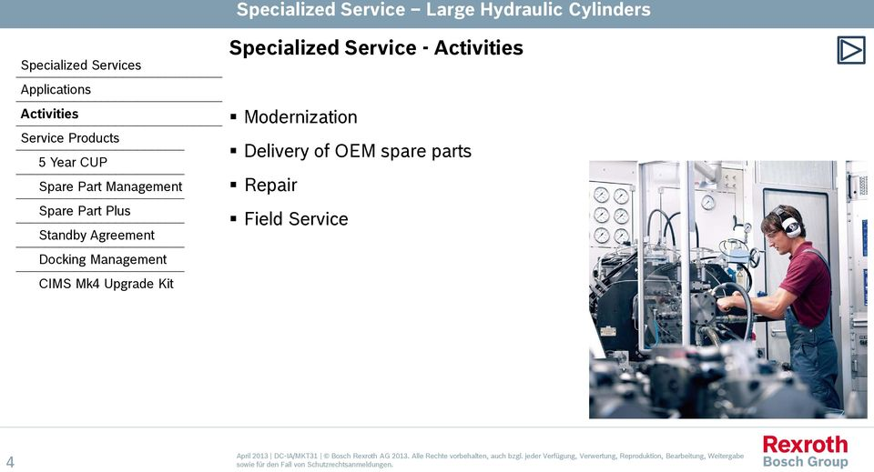 Specialized Service - Modernization