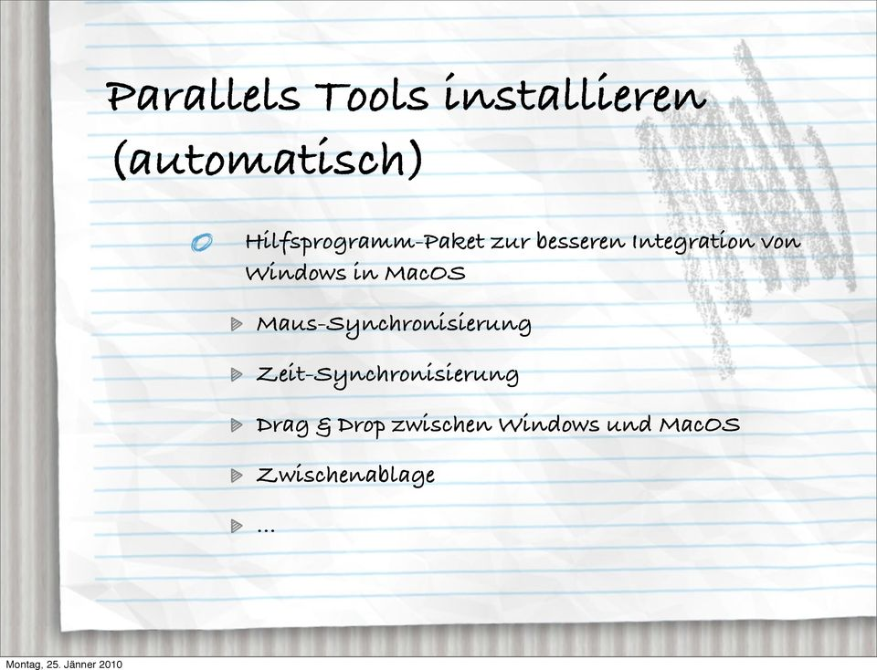 Windows in MacOS Maus-Synchronisierung