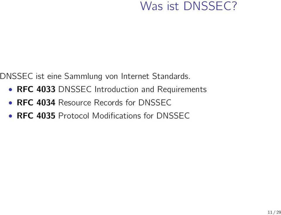 RFC 4033 DNSSEC Introduction and Requirements RFC