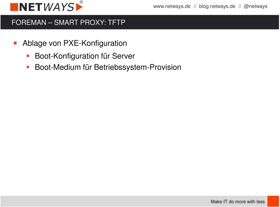 Boot-Konfiguration für Server