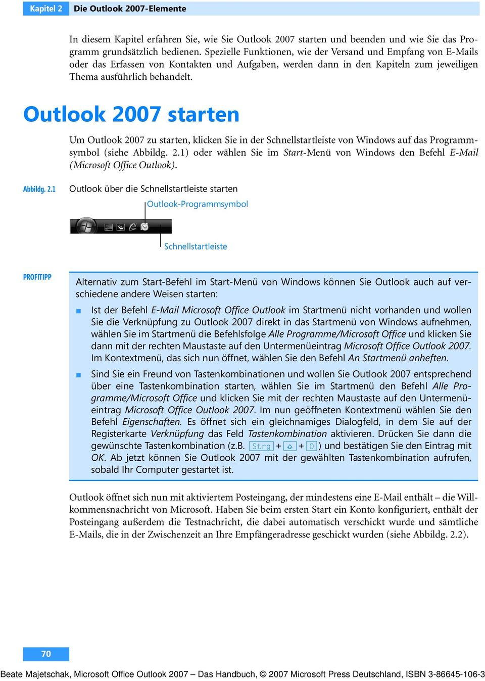 how to start outlook 2007