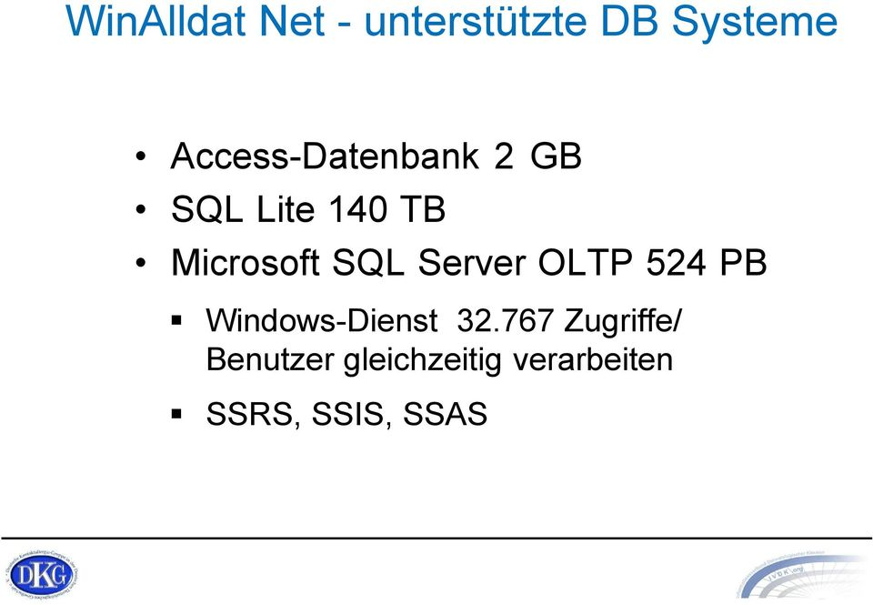 SQL Server OLTP 524 PB Windows-Dienst 32.