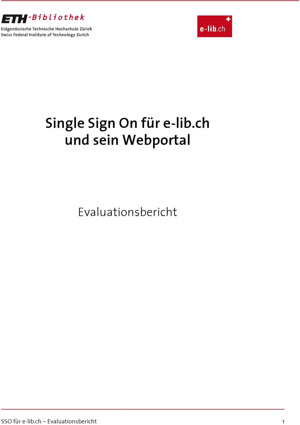 Evaluationsbericht SSO
