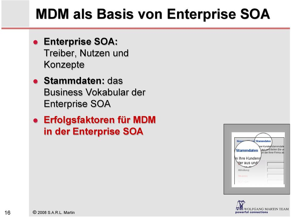 Business Vokabular der Enterprise SOA