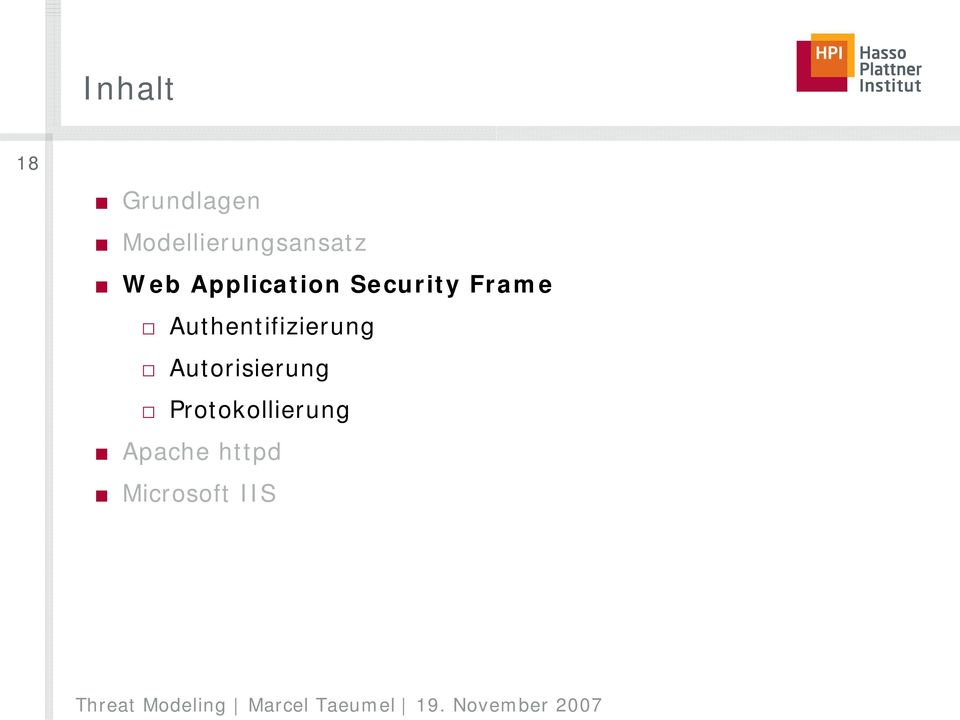 Security Frame Authentifizierung