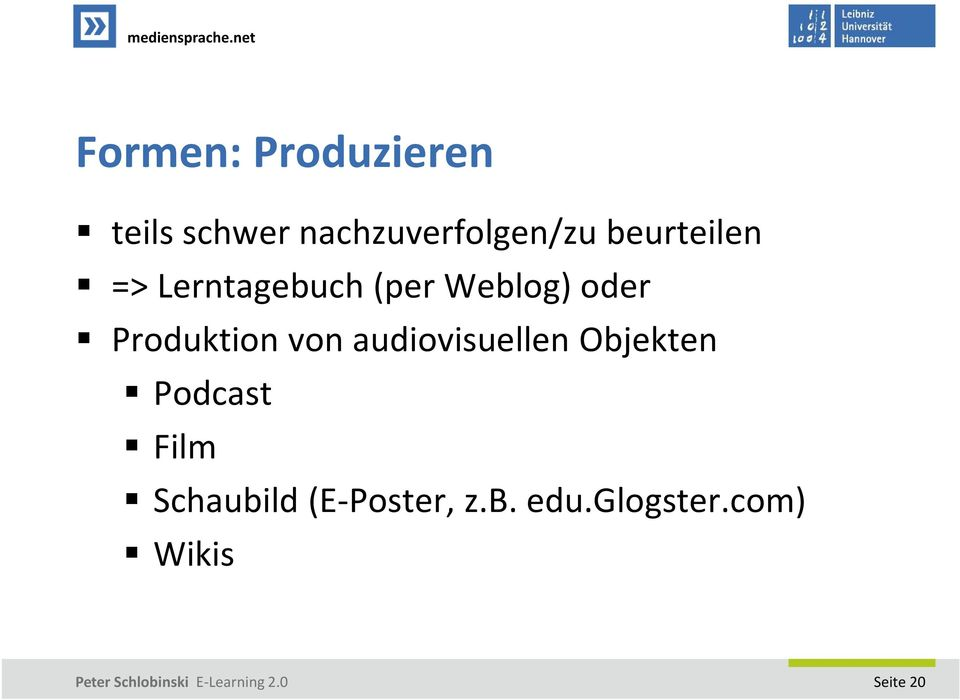 Produktion von audiovisuellen Objekten Podcast Film