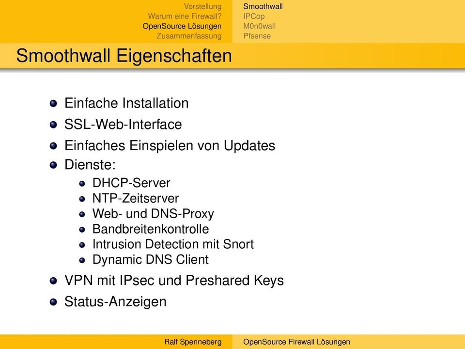 und DNS-Proxy Bandbreitenkontrolle Intrusion Detection mit Snort