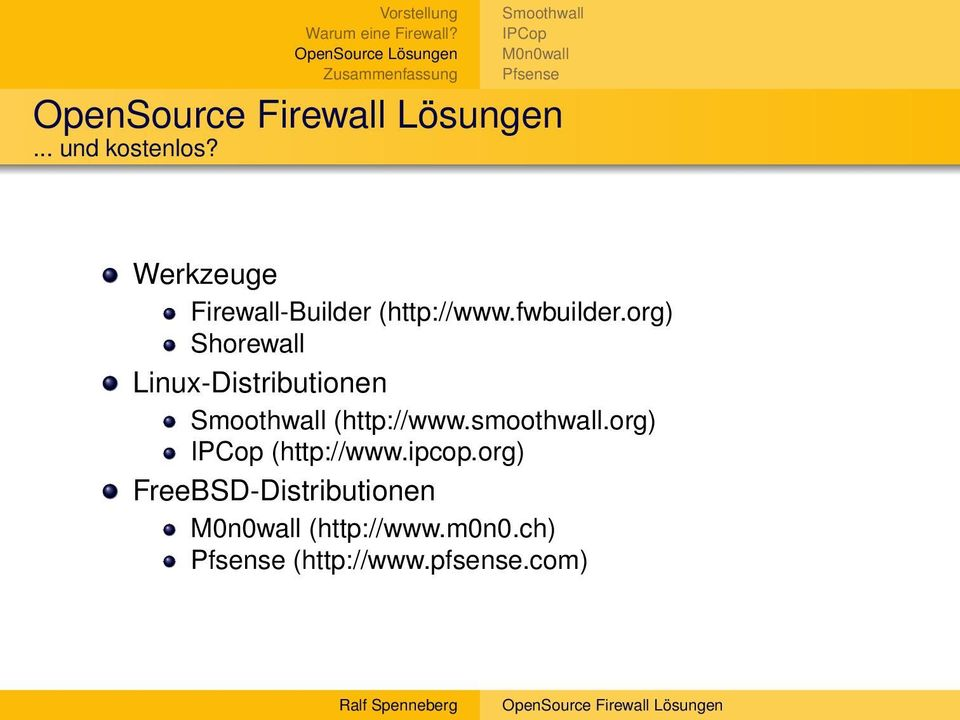 org) Shorewall Linux-Distributionen (http://www.