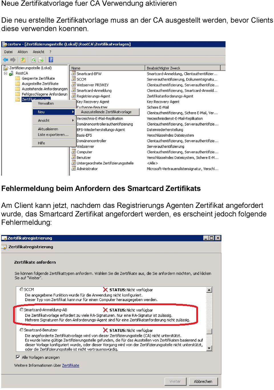 Smartcard Enrollment mit Windows Server 2008 R2 PKI und Windows 7 - PDF