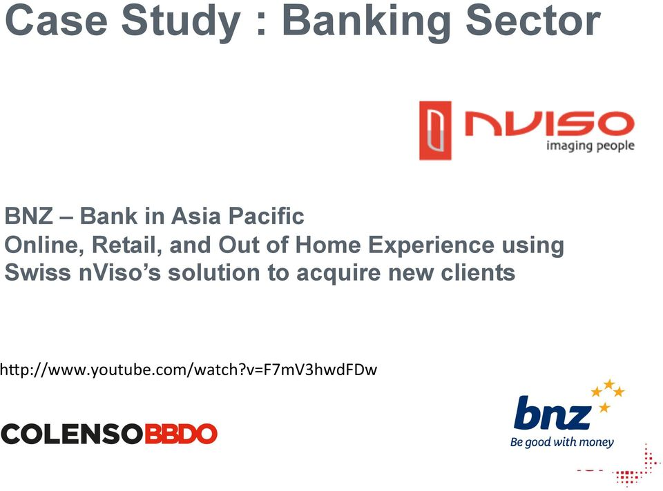 Experience using Swiss nviso s solution to