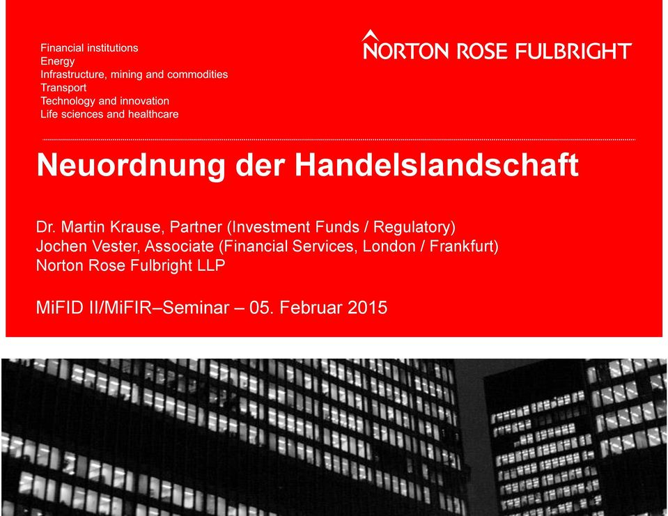 Jochen Vester, Associate (Financial Services, London /