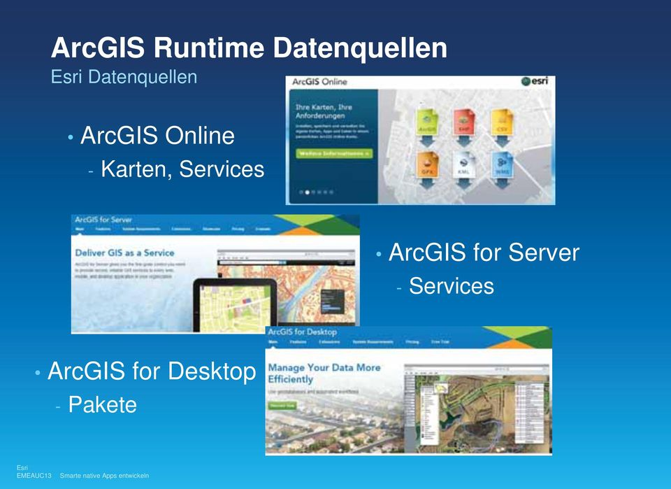 Karten, Services ArcGIS for