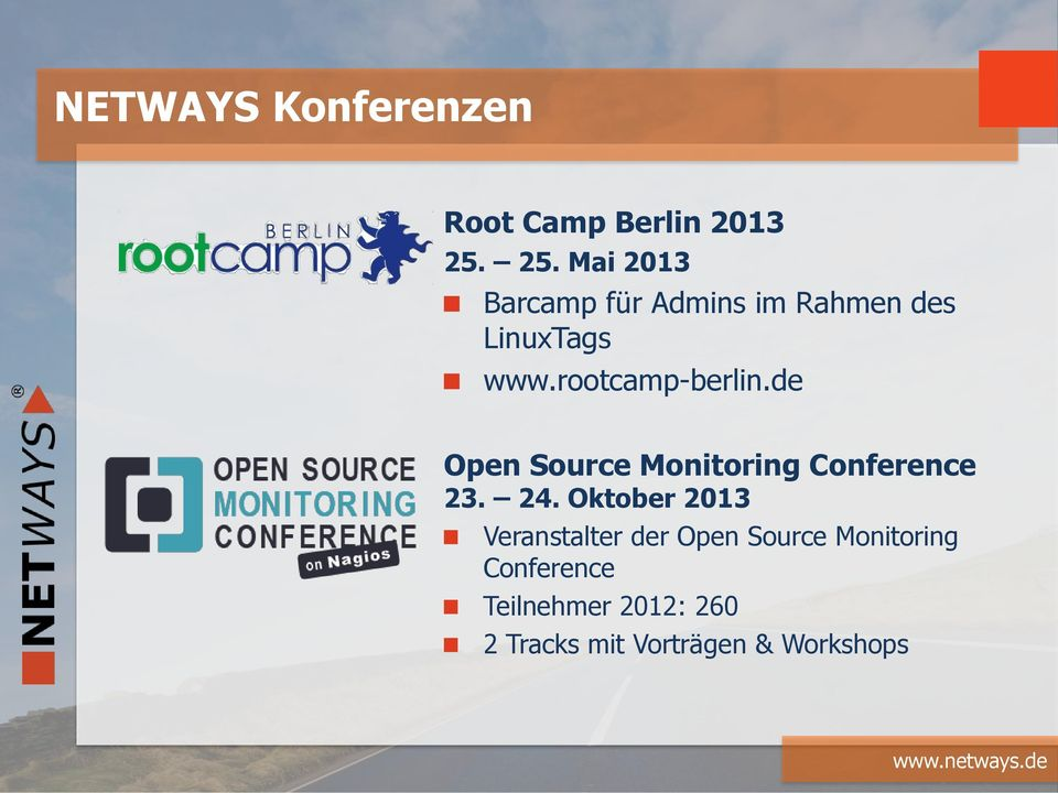 rootcamp-berlin.de Open Source Monitoring Conference 23. 24.