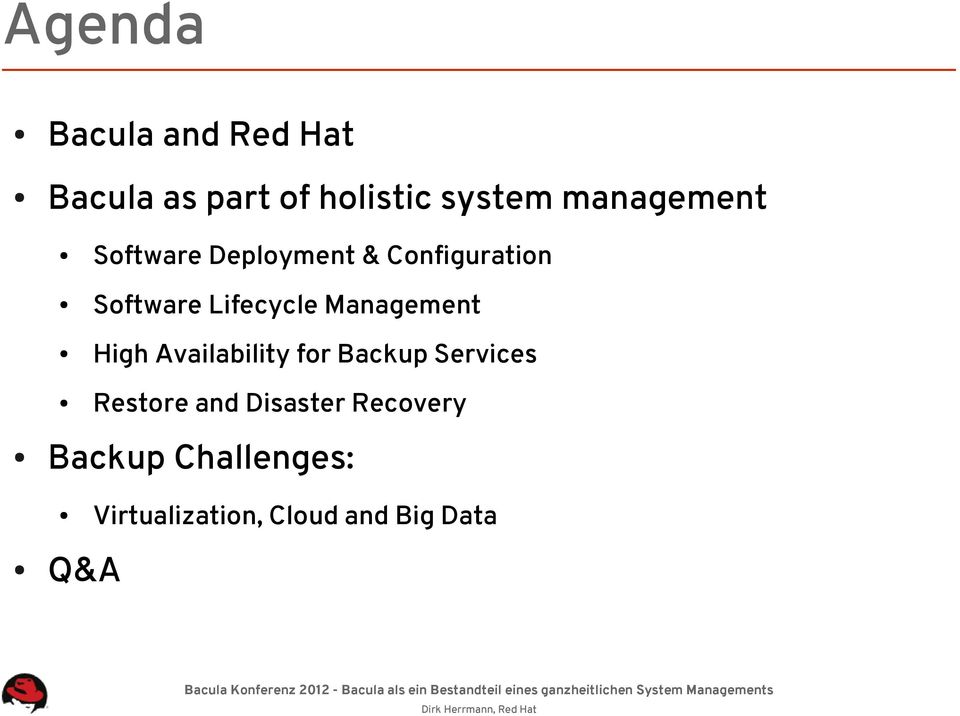 Management High Availability for Backup Services Restore and