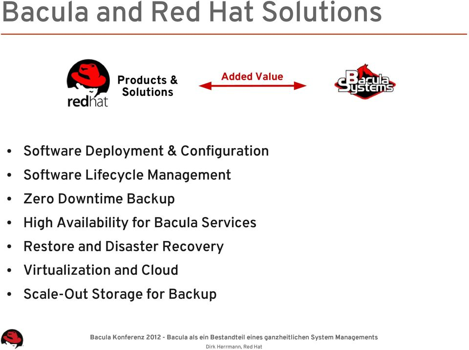 Zero Downtime Backup High Availability for Bacula Services Restore