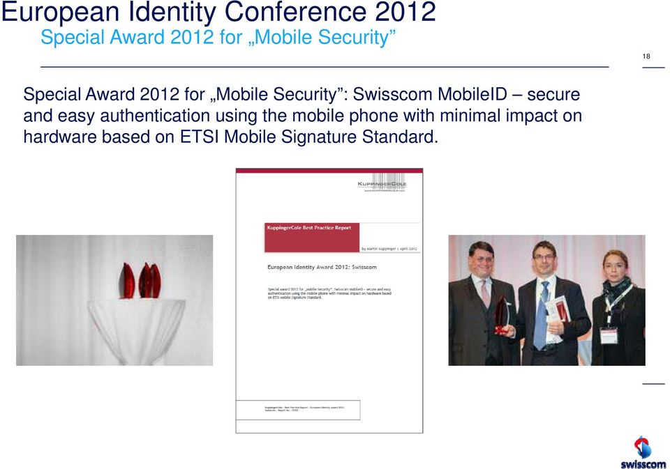 MobileID secure and easy authentication using the mobile phone