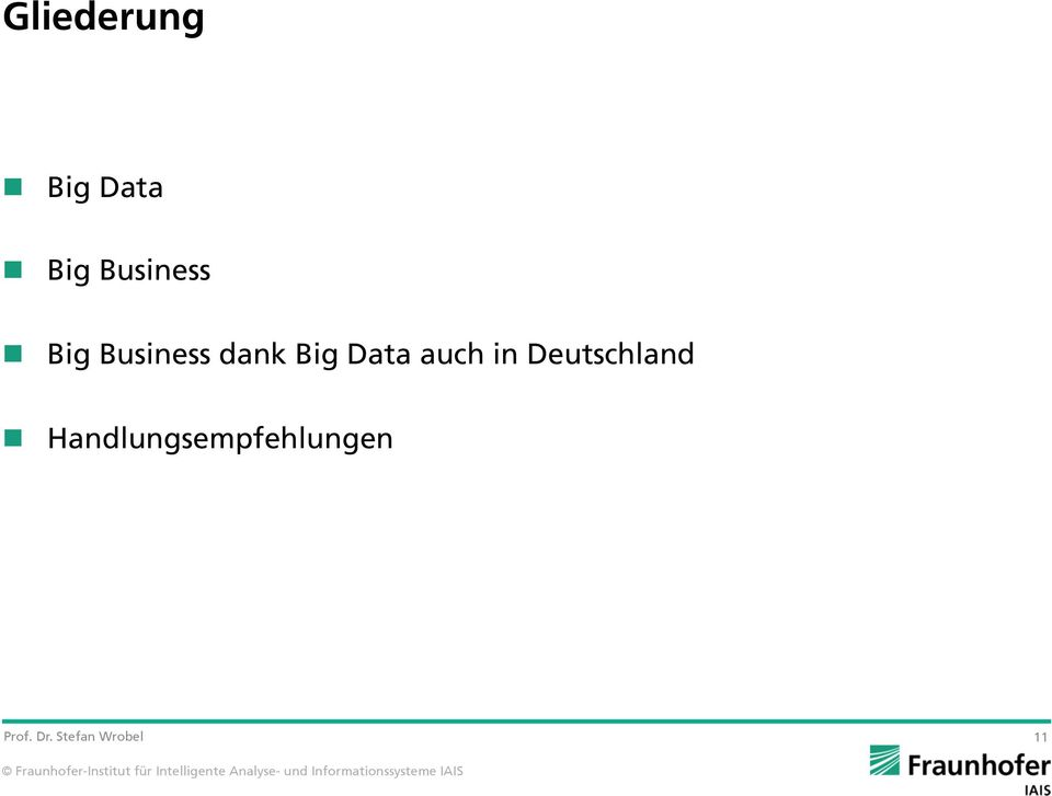 dank Big Data auch in