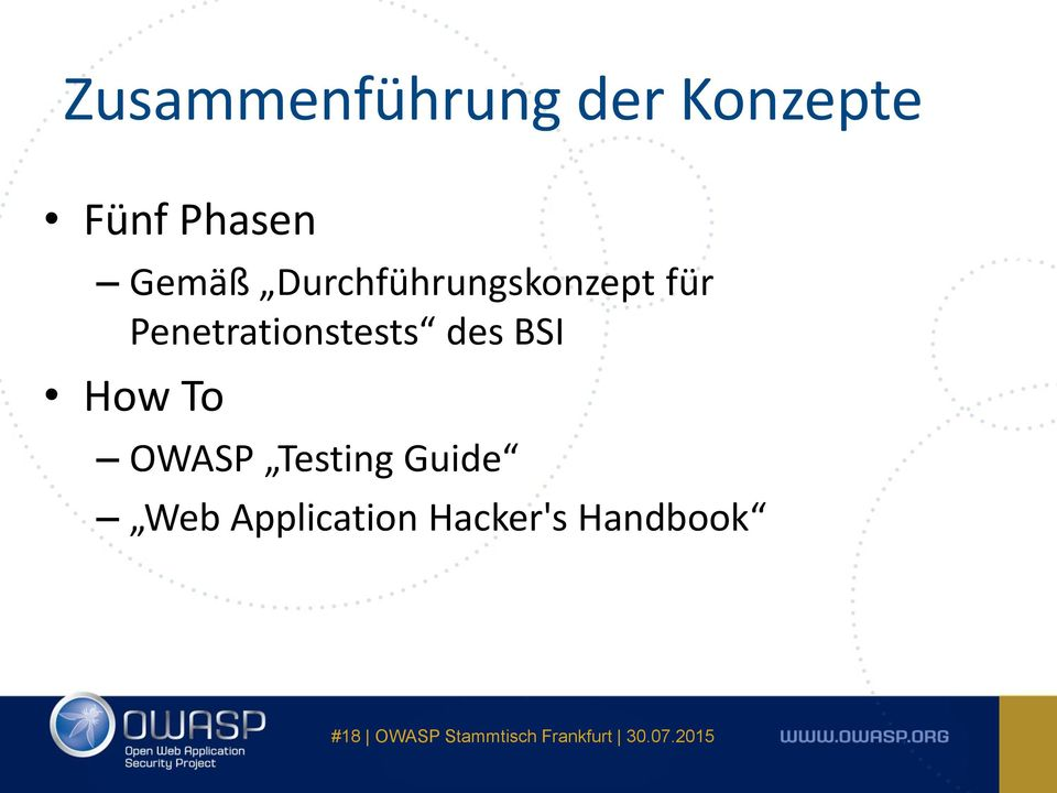 Penetrationstests des BSI How To OWASP
