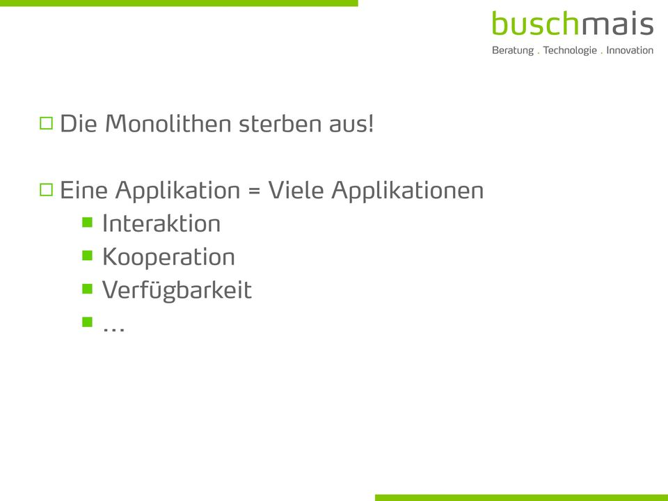 Applikationen Interaktion