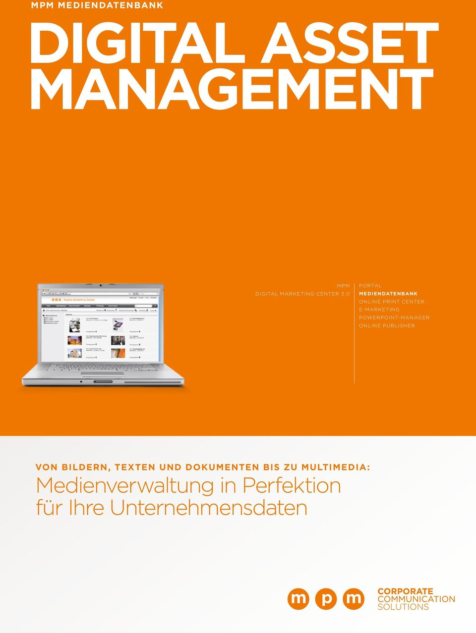 0 Portal MEDIENDATENBANK ONLINE PRINT CENTER E-MARKETING