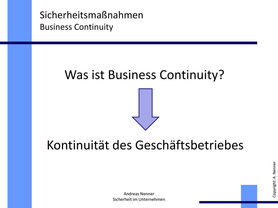 ist Business Continuity?