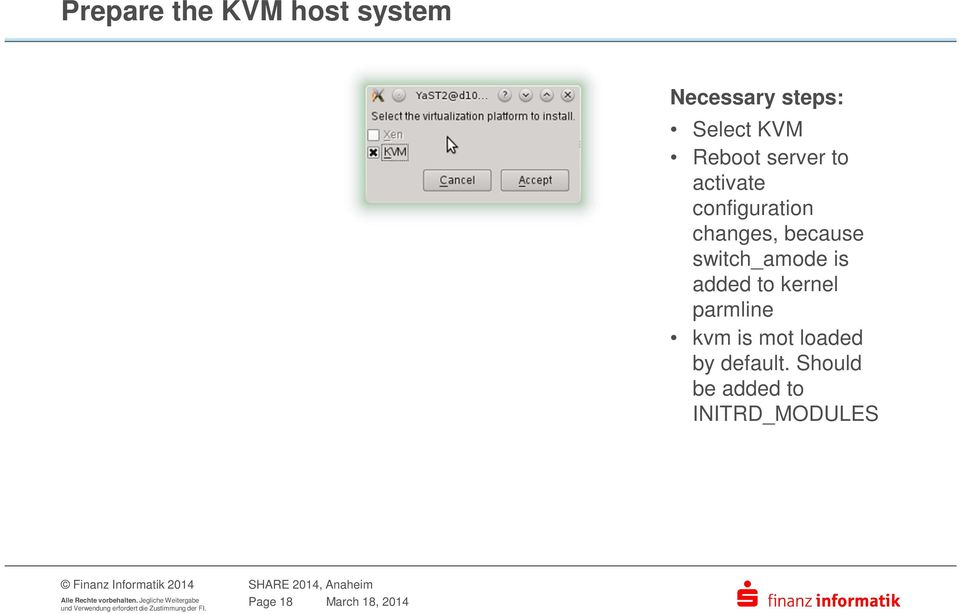 switch_amode is added to kernel parmline kvm is mot loaded
