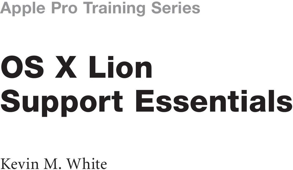 OS X Lion Support