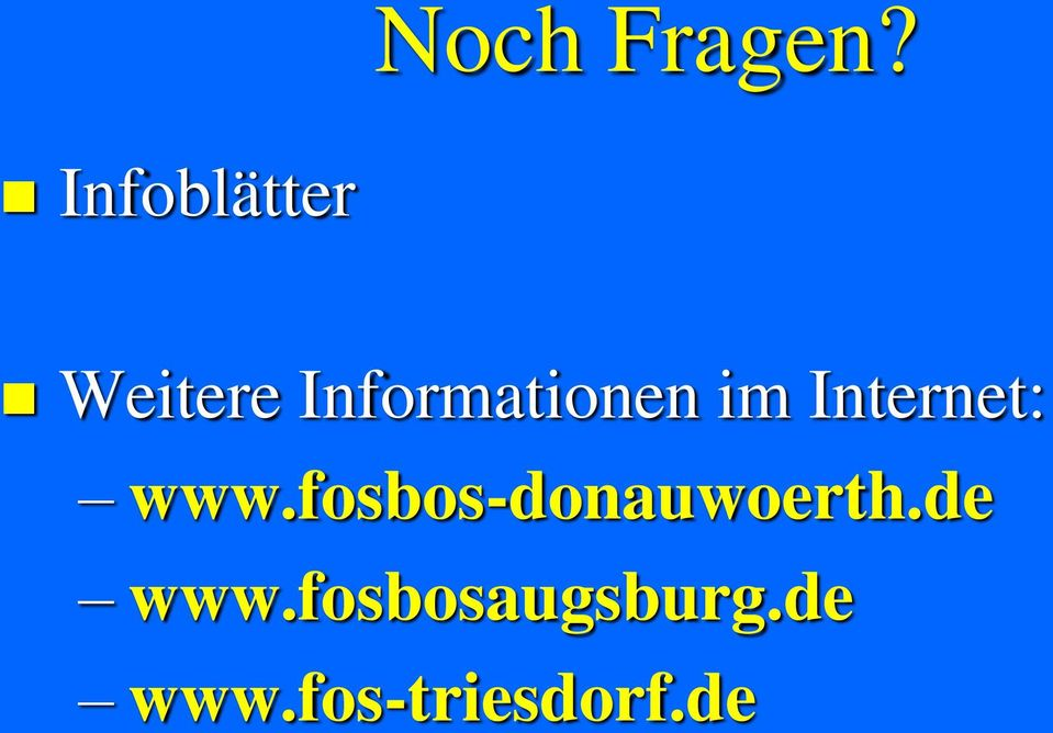 Informationen im Internet: www.