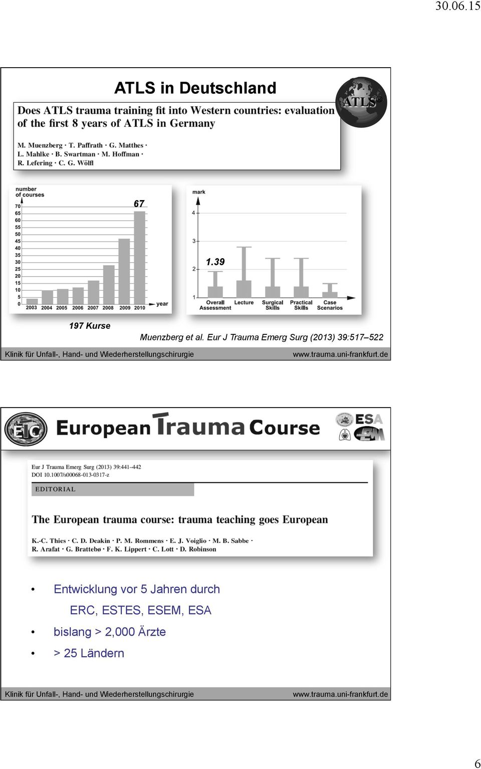 Eur J Trauma Emerg Surg (2013) 39:517 522