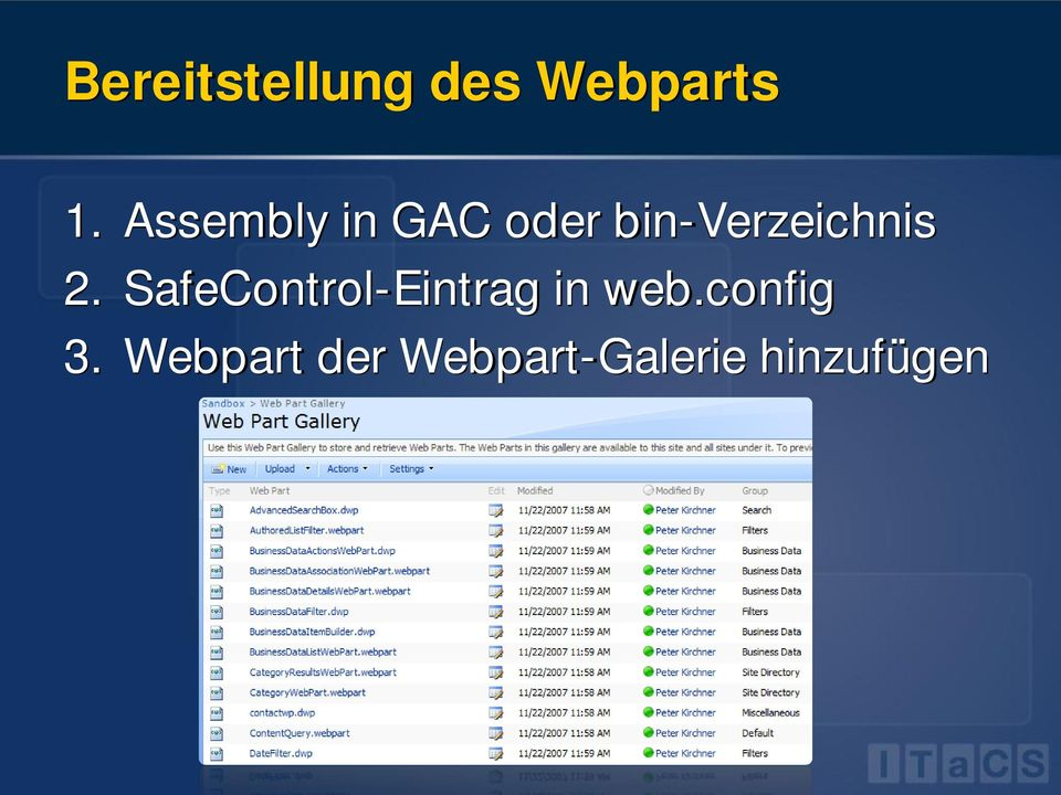 2. SafeControl-Eintrag in web.