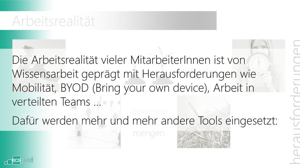 BYOD (Bring your own device), Arbeit in verteilten Teams Wissensarbeiter