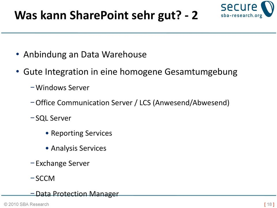 Gesamtumgebung Windows Server Office Communication Server / LCS