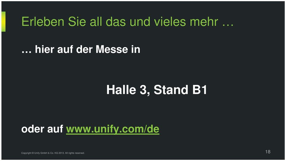 Messe in Halle 3, Stand