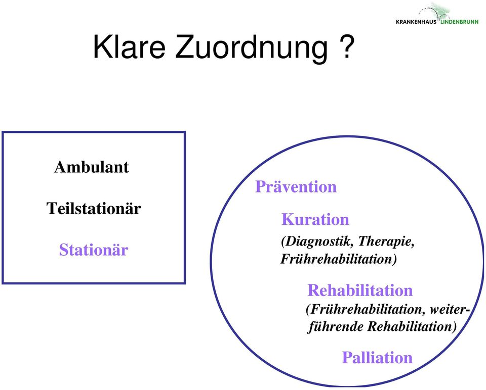 Kuration (Diagnostik, Therapie,