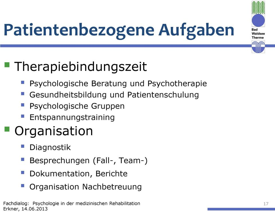 Psychologische Gruppen Entspannungstraining Organisation Diagnostik