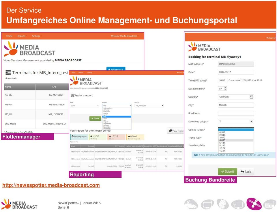 Buchungsportal Flottenmanager Reporting
