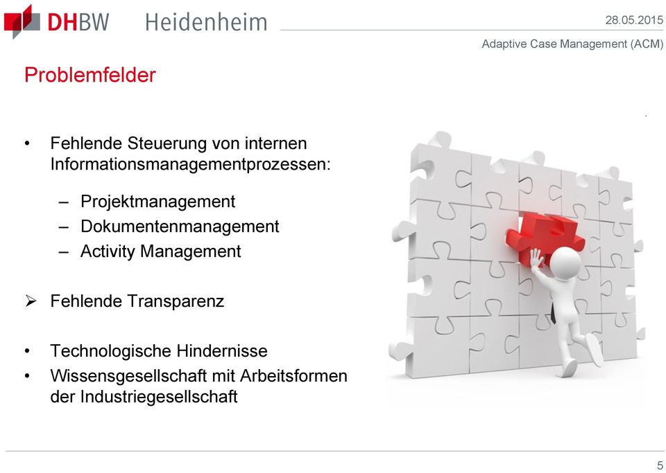 Dokumentenmanagement Activity Management Fehlende Transparenz