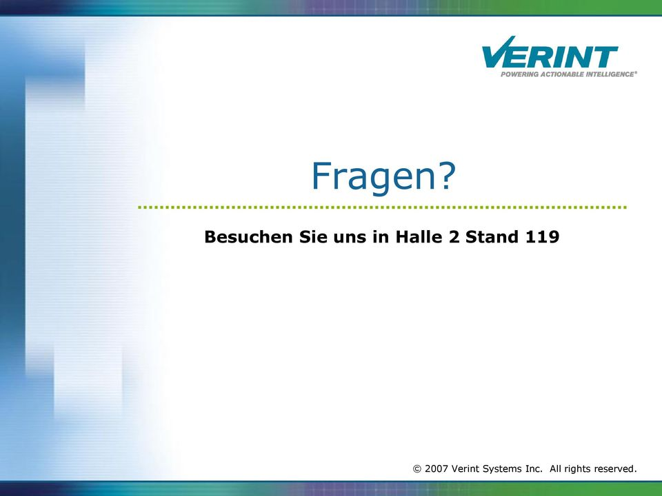 Halle 2 Stand 119 2007
