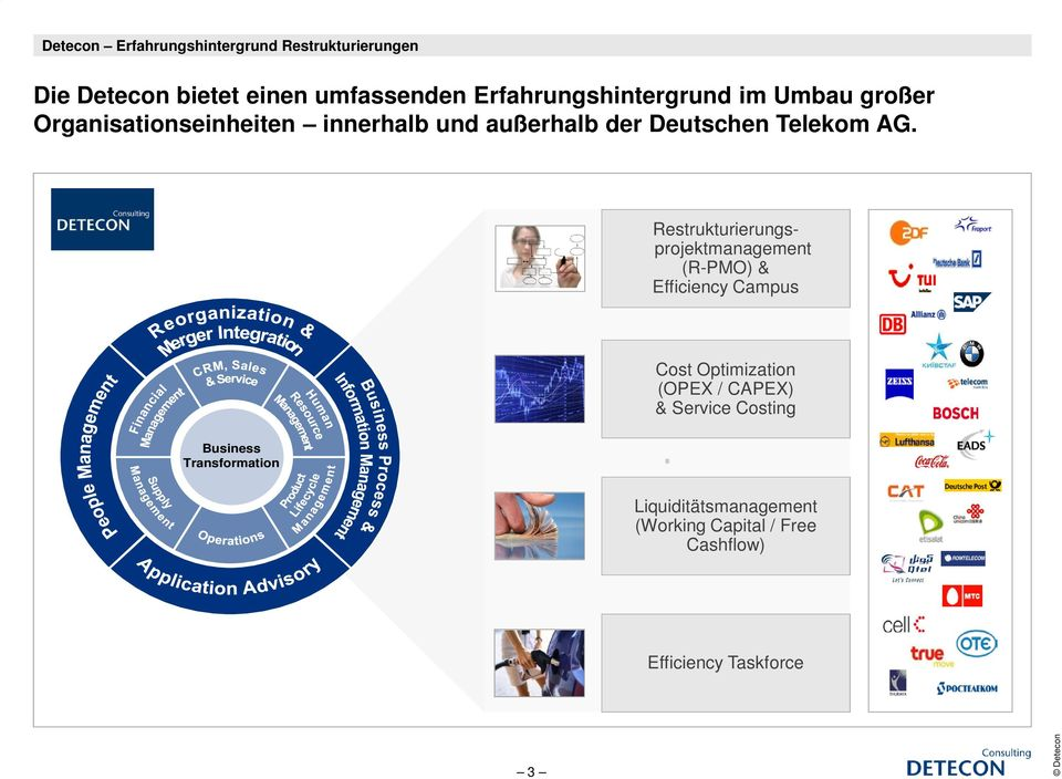 AG. Restrukturierungsprojektmanagement (R-PMO) & Efficiency Campus Cost Optimization (OPEX / CAPEX) &
