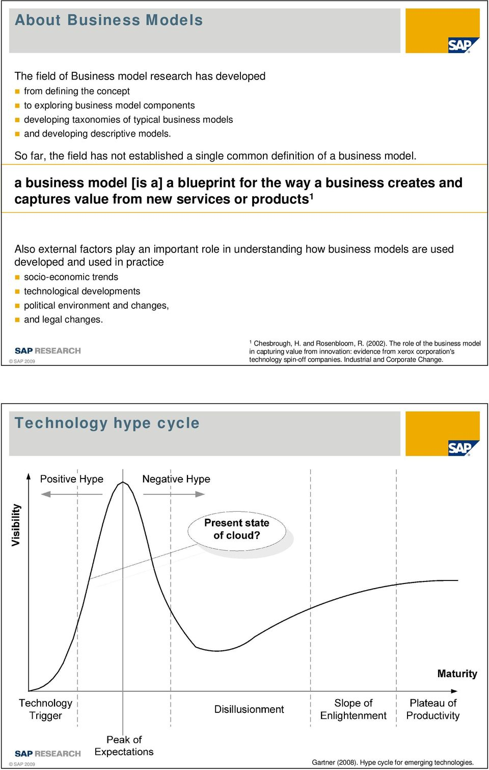 a business model [is a] a blueprint for the way a business creates and captures value from new services or products 1 Also external factors play an important role in understanding how business models