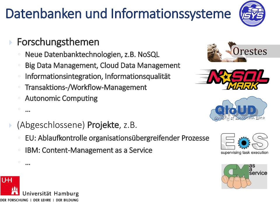NoSQL Big Data Management, Cloud Data Management Informationsintegration,