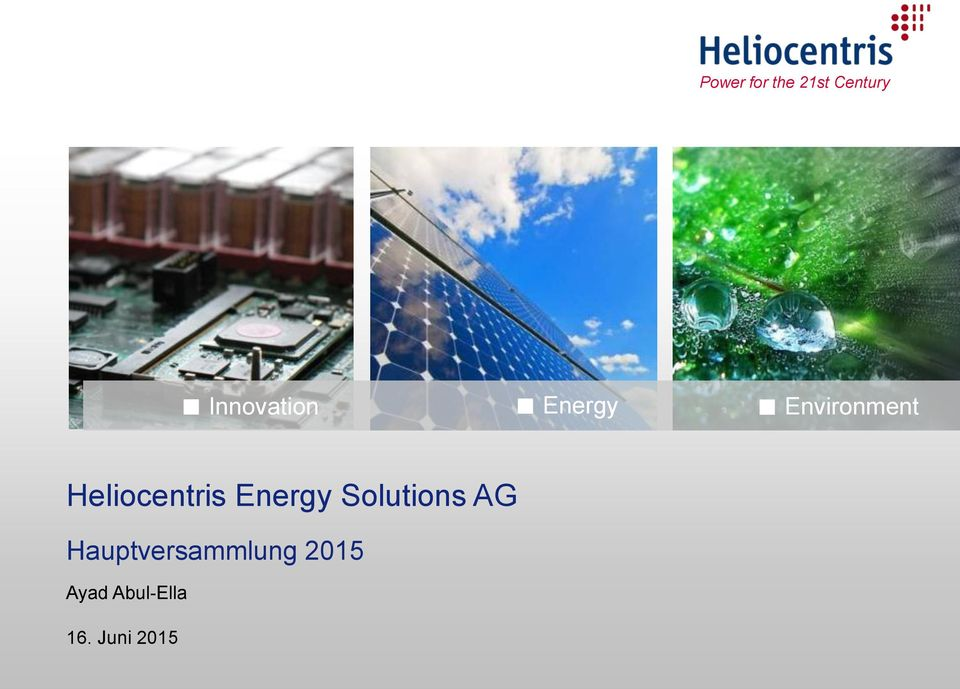 Heliocentris Energy Solutions AG