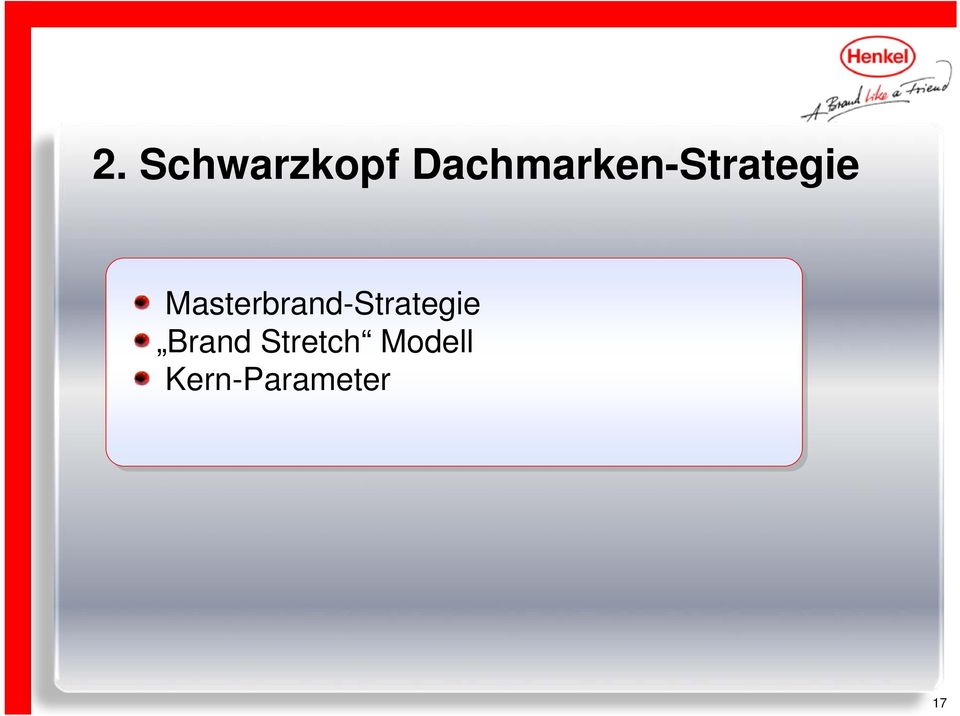 Masterbrand-Strategie