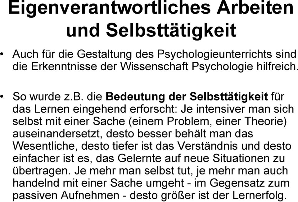 lernen psychologie podcast