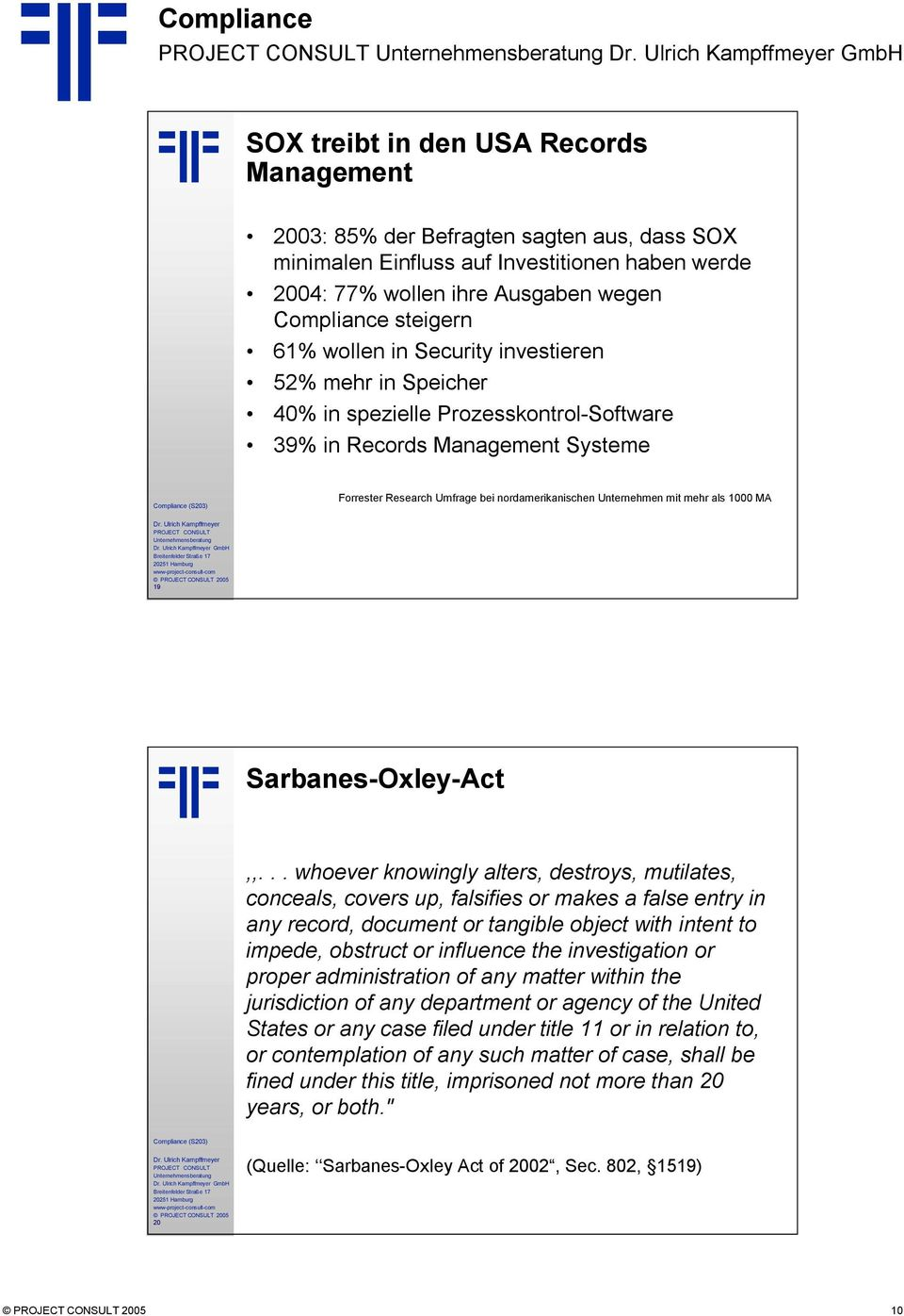 mehr als 1000 MA GmbH 19 Sarbanes-Oxley-Act,,.